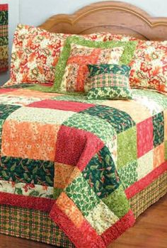 PIN FOR LATER -- Belvedere Patchwork quilt | Free pattern