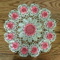 Pinks and Cream Lilly Doily by Thy-Darkest-Hour