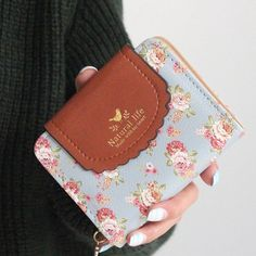 b6c5e057d38f [Visit to Buy] Japan's Rural Style Women Wallets Floral Print Sweet Lady  Carteira Hasp Coin Purse Wallets Card Holder