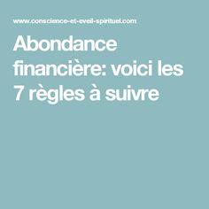 Abondance financière: voici les 7 règles à suivre