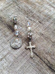 Vintage Upcycled Religious Mix Matched by chrissyslove4beads