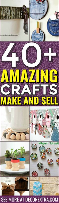 Crafts to Make and Sell, Easy Things to make and sell, DIY Ideas to sell on etsy