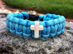 Turquoise Paracord Survival Bracelet with by ParacordTeamProducts, $8.00