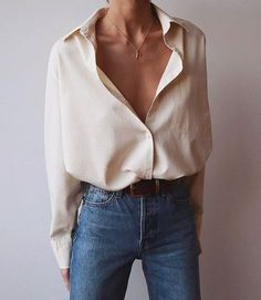 30+ Minimalistic Outfit Ideas for Fall Mode Outfits, Fall Outfits, Casual Outfits, Fall Dresses, Classy Jeans Outfit, White Shirt Outfits, Summer Outfits, Outfit Jeans, Basic Outfits