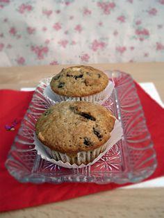 muffins de nueces y dos chocolates