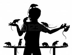 standing rat silhouette - Google Search