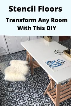 You might want to rethink your ugly  floor when you see what this homeowner did for less than $100!