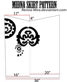 Midna Skirt Pattern by Renna-Mira.deviantart.com on @DeviantArt