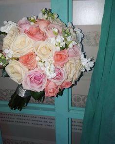 Wedding Day !!! #wedding #weddingbouqet #weddingday #happywedding #wonderfullcolors #pink #pinkroses #whiterose #salmon #salmonrose #happyday #happylife #summer #greece🇬🇷 #flowershop #flowerlovers White Roses, Pink Roses, Happy Day, Flower Art, Salmon, Greece, Floral Wreath, Wedding Day, Wreaths