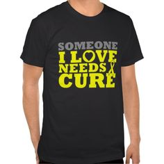 Someone I Love Needs A Cure Osteosarcoma Cancer shirts and gifts to show your support for someone you know battling Osteosarcoma  by www.giftsforawareness.com. #cancerawareness #osteosarcoma