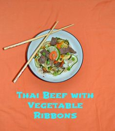 Make Thai Beef with Vegetable Ribbons for a flavorful and healthy entree  #SundaySupper @beeffordinner