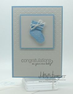 Baby Card made with Stampin' Up! products by www.ministamper.com