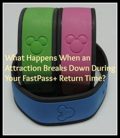 Magic Bands and FastPass+ - What happens when an attraction breaks down during your Fastpass window? Good to know for families planning a disney vacation to Disney World! Disney Fun Facts, Disney Games, Disney World Tips And Tricks, Disney Tips, Disney Stuff, Walt Disney World Vacations, Disney Travel, Disney Universal Studios, Authorized Disney Vacation Planner
