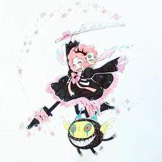 Odilia The Magical School Girl Para Odilia, no hay nada más divertido en el mundo que la magia pero muy pronto descubrira, en la academia de Miss Möller, el peso que va ligado a toda esa diversión. #Witch #bruja #inktober #inktober2016 #magicalschoolgirl #magical #familiar #draw #drawing #illustration #pink #knife #31witches #pink #magicalgirl