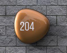 Pebble Home Sign - Tan Brown. Form