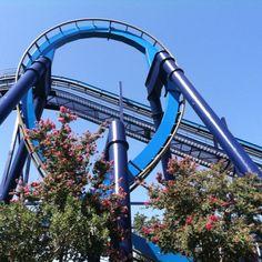 Great White roller coaster at Sea World San Antonio