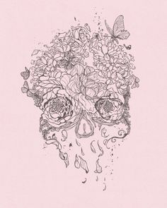 skull illustration- perfect for a tatoo New Tattoos, Cool Tattoos, Tatoos, Sick Tattoo, Skull Tattoos, Tattoo Caveira, Skull Illustration, Candy Skulls, Sugar Skulls