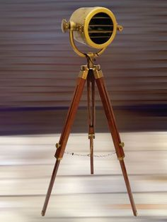 Movie light new york home pinterest movies and lights nautical tripod floor lamp spotlight wooden tripod searchlight lamp stand audiocablefo
