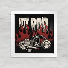 Quadro Decorativo Hot Rod - Machine Cult - Kustom Shop | A loja das camisetas de carro e moto