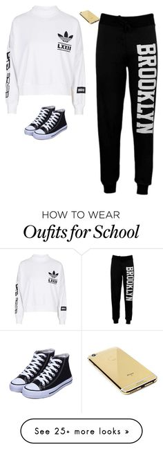 """School!✊"" by curegirl1000 on Polyvore featuring adidas and Goldgenie"
