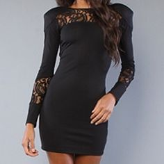 """Black lace """"pioneer"""" dress Worn once, years ago for my 20th birthday. New condition. Amazing dress with shoulder pads and lace inset. Can fit a small. Purchased at Karmaloop (sold out). Price is firm. Karmaloop Dresses"""