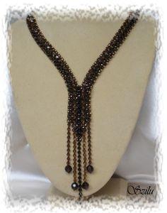 some nice patterns on this website - Diy Jewelry Seed Bead Necklace, Seed Bead Jewelry, Bead Jewellery, Diy Necklace, Jewelery, Beaded Necklace Patterns, Beaded Bracelets, Jewelry Crafts, Handmade Jewelry