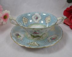 1900s Vintage Booths English Bone China Footed by SecondWindShop