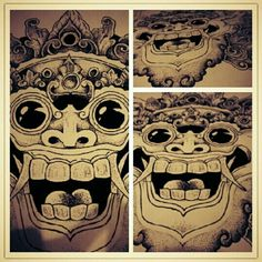 Finally done. barong is traditional mask from bali indonesia,, barong is symbol of a goodness.i finished with pointillism methode also. Tattoo Inspiration, Design Inspiration, Cool Tattoos, Awesome Tattoos, Barong, Pointillism, Balinese, Tatting, Tattoo Designs