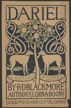 Poster for Dariel by R.D. Blackmore, New York, 1890s