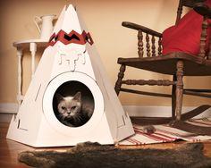 【楽天市場】カナダ生まれのおしゃれな猫用ダンボール製インディアンハウス★キャットハウス(Loyal Luxe/ロイヤルラックス):K:COLLECTION PLUS