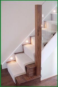 Case StudiesWalnut and glass staircase with clever use of lighting at skirting level - love the clean lines of the design and that its modern without being stark or sterile.Case StudiesSonja Hausladen place Walnut and glass staircase with cl House Stairs, House Design, House, Interior, Home, Staircase Design, New Homes, House Interior, Interior Design