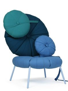 the woonling collection is a furniture system that adapts to peoples living conditions it consists of one basic element a circular cushion which serves carbon fiber tape furniture