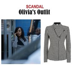"On the blog: Olivia Pope's diamond print jacquard jacket blazer | Scandal 406 - ""An Innocent Man"" #tvstyle #tvfashion #outfits #fashion #gladiators #TGIT"