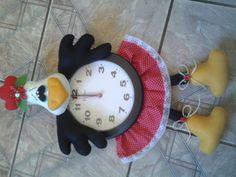 Relógio decorado Galinha D'angola