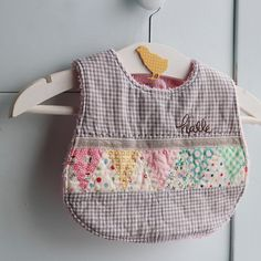 Cute, easy, and a great scrap project! Quilted Baby Bib Tutorial ... : quilted baby bibs - Adamdwight.com
