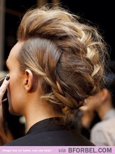 Rocker chic braids. Love it!