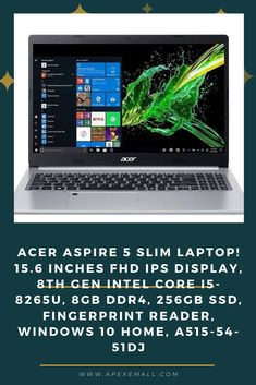 Description: #Screen Size 15.6 inches #Max Screen Resolution 1920 x 1080 #Processor 3.9 GHz Intel Core i5 #RAM 8 GB DDR4 #Hard Drive 256 GB Flash Memory Solid State #Graphics Coprocessor Intel UHD Graphics 620 #Chipset Brand Intel #Card Description Integrated #Wireless Type 802.11ac #Number of USB 2.0 Ports 1 #Number of USB 3.0 Ports 3 #Average Battery Life (in hours) 5 hours Price: $487.76 For purchase & more details, Click on img.