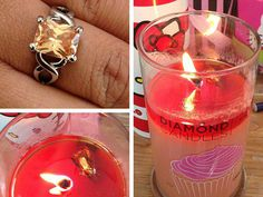 Diamond Candles! Amazing scented candles  with a hidden ring inside worth from $10-$5000 dollars! Awesome creative idea!