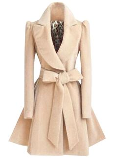 Shop Fashion Winter Swing Trench Coat with Belt at victoriaswing, personal womens clothing online store! high quality, cheap and big discount, latest fashional style!