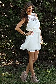 Divine Design Dress, ivory