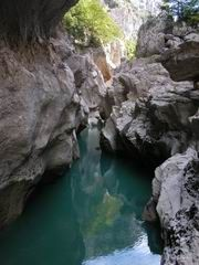Hidden somewhere in the Verdon Gorge, Southern French Alps