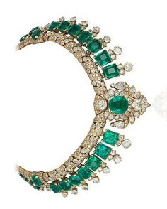 Cartier,diamond and emerald necklace