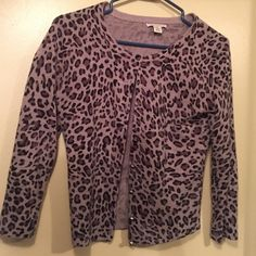 Really cute cheetah print sweater! This sweater is super cute. It's grey and black cheetah print. Fits a small. In like new condition. Worn maybe a handful of times. Sweaters Cardigans