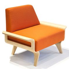 Lounge22 Luxurious Seating From LA Osaka Chair St Tropez Tangerine, $1,100, now featured on Fab.