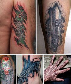 skin tattoo designs   various biomechanical tattoos