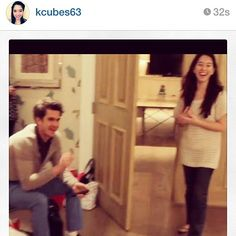 Senior Editor Kaitlin Cubria with Andrew Garfield.