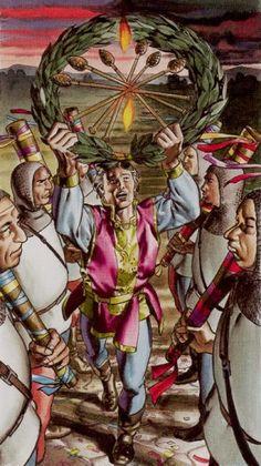 Six of Wands - Initiatory Tarot of the Golden Dawn by Giordano Berti, Patrizio Evangelisti