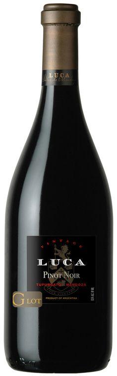 Pinot noir 2012 - Luca Wines, Valle de Uco, Mendoza, Argentina ------------------ Terroir: Gualtallary (Tupungato) - Mendoza, Argentina ------------------ Crianza: 12 meses en barricas de roble francés (30% nuevas y 70 % 2do uso)