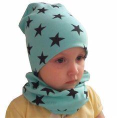 Autumn Winter Crochet Baby Hat Girl Boy Cap Kids Beanie Stars Infant Hat Cotton New Children Collar Scarf baby cap child cap  Price: 3.82 USD
