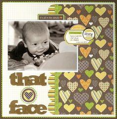 Baby Scrapbook Layout | 12X12 Scrapbook Page | Scrapbooking Ideas | Creative Scrapbooker Magazine #scrapbooking #babies